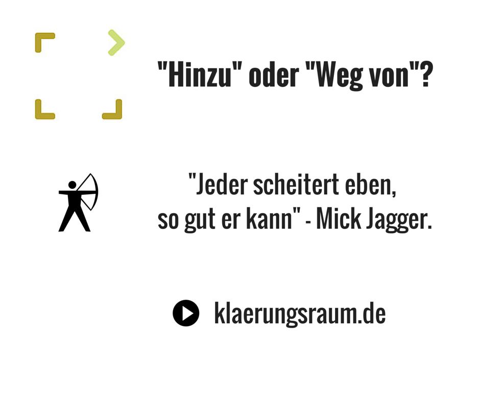 """Die Lebenskarriere - Von """"Hinzu"""" zu """"Weg von"""""""